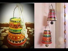 Mirror Crafts, Wall Hanging Crafts, Diy Crafts Hacks, Diy And Crafts, Diy Christmas Star, Plastic Bottle Art, Diwali Craft, Newspaper Crafts, Upcycled Crafts