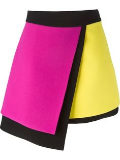 Shop Fausto Puglisi colour block asymmetric skirt  in Parisi from the world's best independent boutiques at farfetch.com. Shop 300 boutiques at one address.