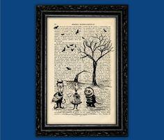Children Nightmare Before Christmas Silhouettes Print - Jack Poster Moon Book Art Dorm Room Print Gift Print Wall Decor Poster  Art