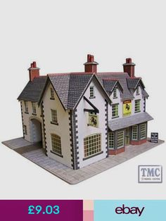 HO//OO and N Gauge. Three types Old Tudor timber-framed Houses Card Kit