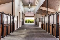 Equestrian: Horse Stables and Barns - Contemporary - Granny Flat or Shed - Miami - by In-Site Design Group LLC Barn Stalls, Horse Stalls, Dream Stables, Dream Barn, Luxury Horse Barns, Somerset, Equestrian Stables, Horse Barn Designs, Barn Plans