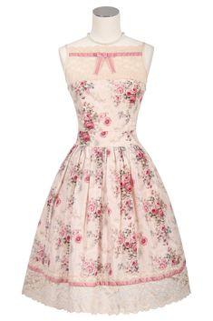 Vintage Rose Lace Dress