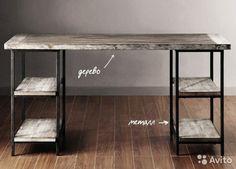 Рабочий стол в стиле лофт — фотография №1