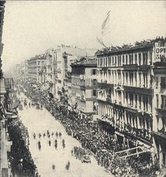 President Abraham Lincoln's funeral procession in New York City, 1865