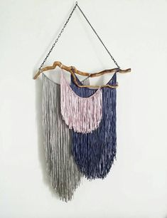 Modern bohemian decor boho yarn wall hanging macrame wall