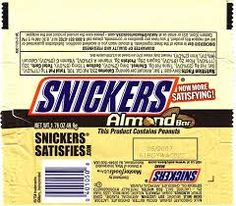 2007 Snickers Almond Candy Wrapper