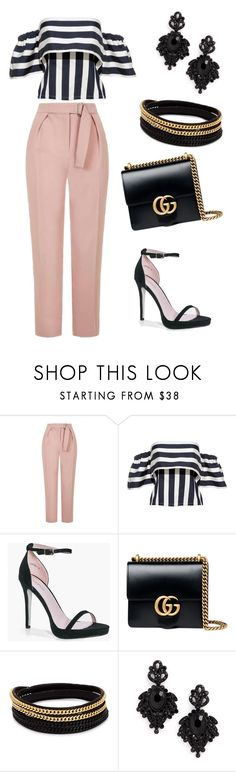 """upper east side"" by anjola112 on Polyvore featuring Topshop, Boohoo, Gucci, Vita Fede and Tasha"