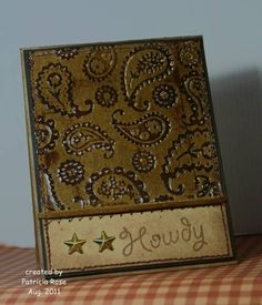 Using Cuttlebug embossing