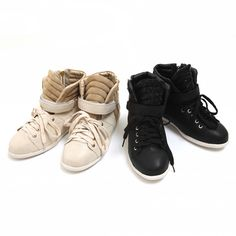 Casual style sneakers  $35 Sneakers Women, Sneakers Fashion, High Top Sneakers, Korean Fashion, Mens Fashion, Fashion Outfits, All About Shoes, Cheap Dresses, Sick