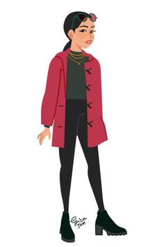An Artist Illustrated All Of Lara Jean s Outfits From