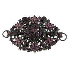 Large Purple Crystals Rhinestones Black by FancyGemsandFindings, $25.00 Crystal Rhinestone, Rhinestones, Retro Vintage, Crystals, Purple, Flowers, Black, Black People, Florals