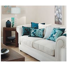 teal and tan living room | living room in teal and chocolate brown