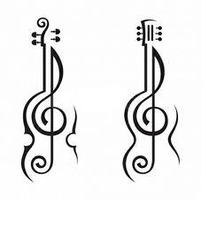 Violin, guitar, G