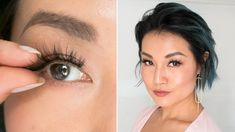Here's a simple guide to mastering false eyelash application. Makeup artist Joanna Simkin offered some step-by-step tricks that make putting on fake lash strips a breeze. Eyelashes How To Apply, Applying False Lashes, Fake Lashes, False Eyelashes Tips, Short Eyelashes, Applying Makeup, Eyelashes Tutorial, Johnny Orlando, Eyelash Sets