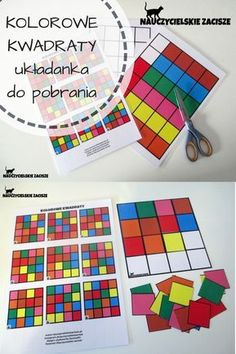 Nauczycielskie zacisze: KOLOROWE KWADRATY układanka do pobrania za darmo / Colorful squares - free puzzle for kids, preschool, kindergarten Preschool Learning Activities, Preschool Worksheets, Educational Activities, Toddler Activities, Preschool Activities, Kids Learning, Free Puzzles For Kids, Visual Perception Activities, Busy Boxes