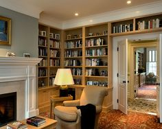 Book Shelves/Storage: built out from the wall and over the door - DIY project