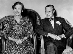 The duke of Windsor with his sister Mary, viscountess of Lascelles nee Pss Royal.