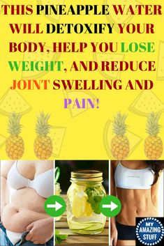 THIS PINEAPPLE WATER WILL DETOXIFY YOUR BODY, HELP YOU LOSE WEIGHT, AND REDUCE JOINT SWELLING AND PAIN! - My Amazing Stuff Quick Weight Loss Tips, Help Losing Weight, Weight Loss Help, Weight Loss Goals, Weight Loss Program, How To Lose Weight Fast, Gewichtsverlust Motivation, Weight Loss Motivation, Loose Weight
