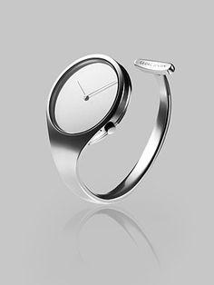 georg jensen ~ Stainless Steel Bangle Watch $2300