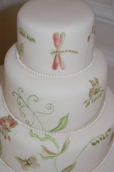 Dragonflies and Butterflies Cake ~ So pretty and airy.