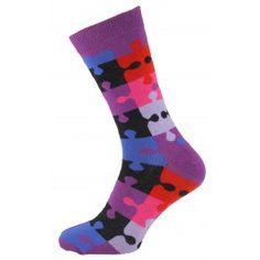 Purple Puzzle Men Socks