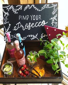 We love this old school desk that has been transformed into a pimp your Prosecco station! The Effective Pictures We Offer You About healthy food wallpaper A quality picture can … Tipi Wedding, Wedding Menu, Wedding Ideas, Woodland Wedding, Prosecco Bar, Pimp Prosecco, Bbq Party, Party Drinks, 50th Party