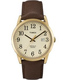 EASY READER® | Timex UK | Wear It Well http://www.thesterlingsilver.com/product/fossil-womens-original-boyfriend-automatic-watch-with-silver-dial-and-white-leather-strap-me3069/