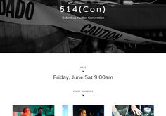 614(Con) Hacker Convention Website Website