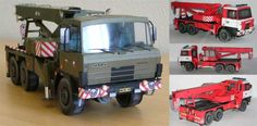 AV 14 TATRA 815 6x6 Crane, created by PMHT, and the scale is in 1:32. There are Green, Red and Orange three color versions available.