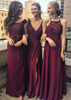 long bridesmaid dresses,wedding party dresses,burgundy bridesmaid dresses,simple bridesmaid dresses