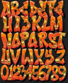Image of Graffiti Font - Inferno