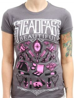 "Women's ""Steadfast Beautiful"" Tee by Steadfast Brand (Charcoal)"