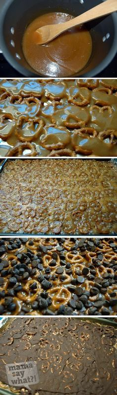 I am going to use gluten free pretzels ...........Salted Caramel Pretzel Bark -- So easy and yummy in your tummy! | Recipe on mamasaywhat.com | Recipe by MaryEllen M.