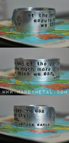 Frida Kahlo quote at the end of the day we can by ManoyMetal, $22.00