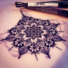under boob mandala tattoo - Google Search