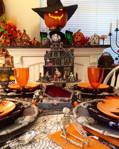 Smashing Plates Tablescapes: Spooktacular Halloween Tablescape
