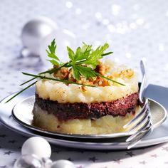 Découvrez la recette du parmentier de boudin noir à la poire