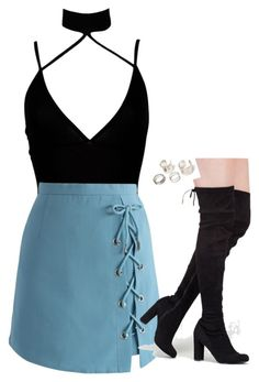 """""""Untitled #599"""" by sapphirecavill ❤ liked on Polyvore featuring Boohoo and Chicwish"""