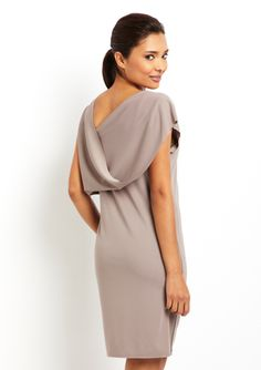 MILLA Cap Sleeve Drape Back Dress