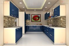 Small Kitchen and Big Kitchen Design. Kitchen Ceiling Design, Kitchen Design Open, Kitchen Cabinet Design, Home Decor Kitchen, Interior Design Kitchen, Big Kitchen, Kitchen Modular, Modern Kitchen Cabinets, Sweet Home