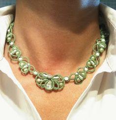 """CM-Handmade: Modello per la collana verde """"Primavera"""""""