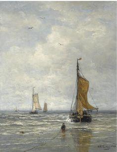 Hendrik Willem Mesdag (1831-1915), La rentrée des pêcheurs, 1890.