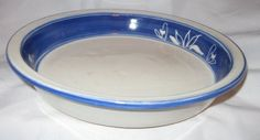 Blue  White Pottery Pie Plate ** You can find more details by visiting the image link.(This is an Amazon affiliate link and I receive a commission for the sales)