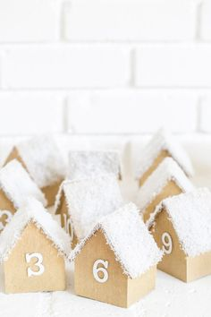 pinned by barefootblogin.com DIY wooden houses advent calendar