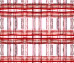 C'EST LA VIV Kitchen Plaid ~ Red Pepper fabric by cest_la_viv on Spoonflower - custom fabric
