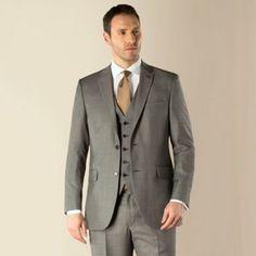 Karl Jackson Grey pick and pick 2 button suit- at Debenhams.com