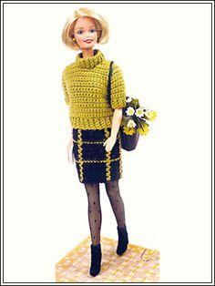 "Комплект ""Веселая клетка"" - Kimberly Club. Одежда для кукол."