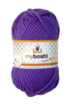 Myboshi No.3 violett 100% Merinowolle 4,95 €