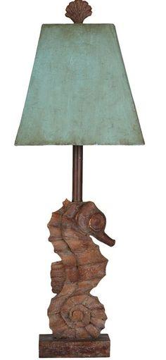Seahorse Lamp: Beach Decor, Coastal Home Decor, Nautical Decor, Tropical Island Decor  Beach Cottage Furnishings