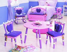 Princess Toy Box Bench by Levels of Discovery, Chests & Toy Boxes, Furniture for Girls